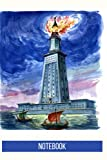 Lighthouse of Alexandria Notebook: blank lined composition journal | Lighthouse of Alexandria notebook | 100 pages