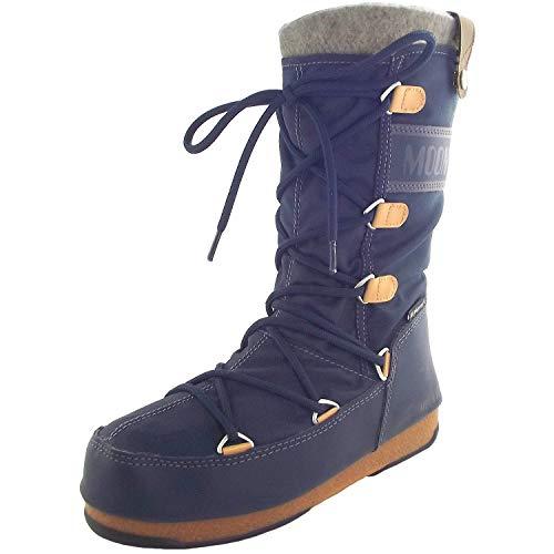 Moon Boot Monaco Felt, Bottes d'hiver Femme, Denim Blue, 36 EU / 3.5 UK