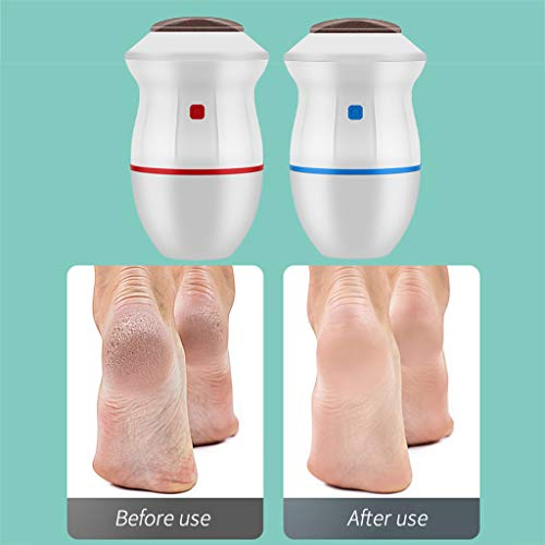 Portable Electric Vacuum Adsorption Foot Grinder, USB Rechargeable Foot File Exfoliator, Dual Speed Electronic Dead Skin Callus Remover Feet Care Pedicure Tools for Old Dry Cracked Cocoon (Blue)