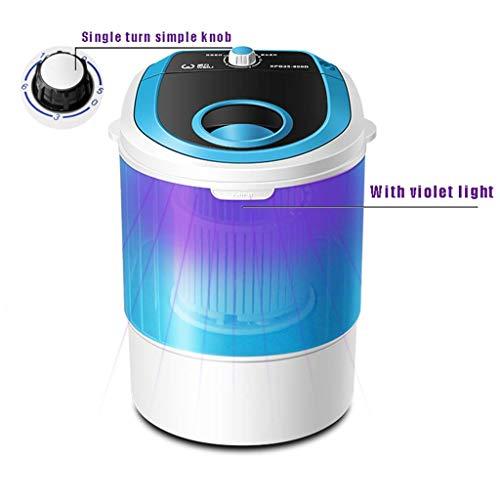 GONGFF tragbare Waschmaschine, Blau Antibakteriell tragbare Waschmaschine, Kleinhalbautomatische Kompakt Waschmaschine 2,5kg Große Kapazität 10 Minuten schneller Sucker Entwurf an der Unterseite