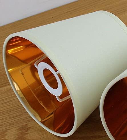 WNAVX 2pcs Ligero Color Beige Tela de plástico Tela de plástico Luces Colgantes, lámpara de Pared Cubierta de luz Reemplazo de Colgante, E14 / Clip en (Body Color : E14 Style)