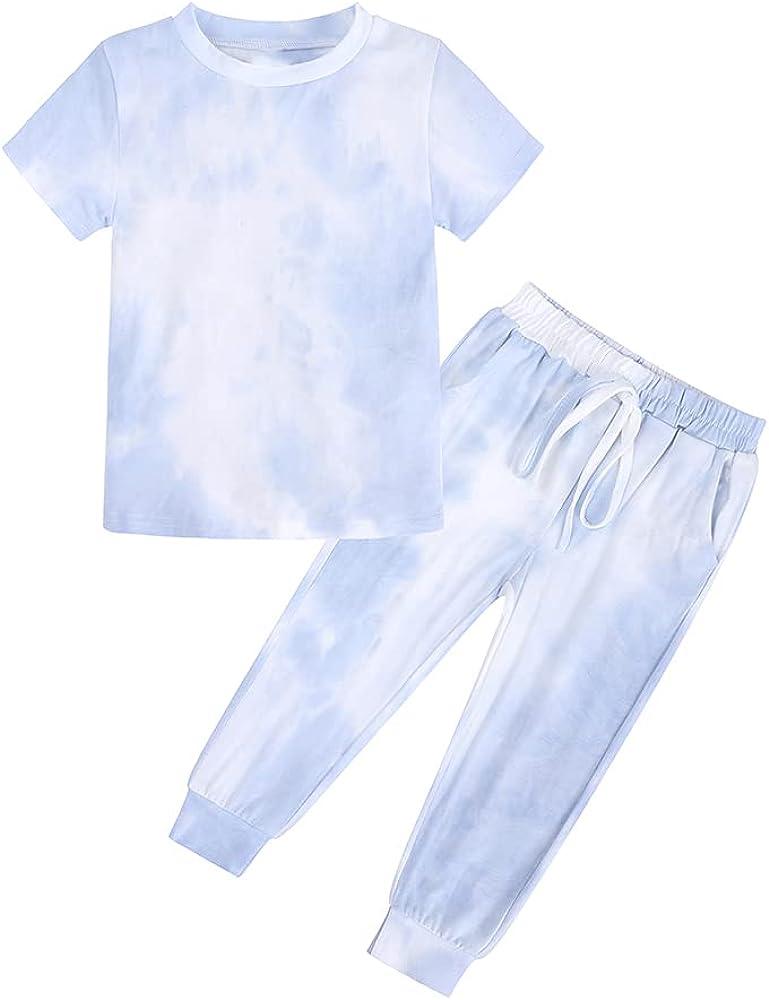 MYGBCPJS Little Girl 2Pcs Summer Top +Shorts Kids Leopard Short Sleeve Outfit Set