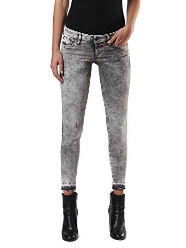 DIESEL Skinzee Low C 0679S Stretch Femmes Jeans (23W / 32L, Gris)