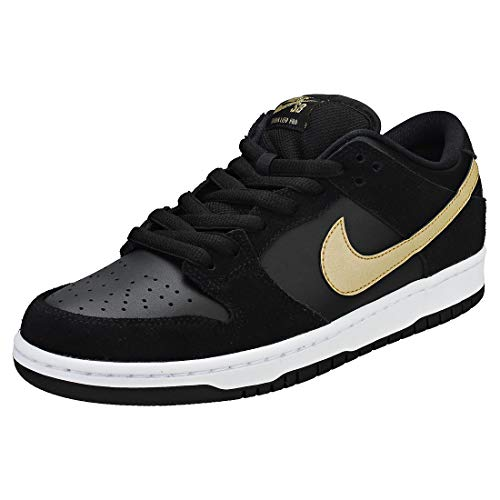Nike SB Dunk Low Pro, Zapatillas de Skateboarding Unisex Adulto, Multicolor (Black/Metallic Gold/White 002), 46 EU