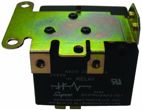 Supco 9070 Potential Relay, 35 A at 277 VAC Contact Rating, 50/60 hz Cycle, 253 V Continuous Coil Voltage, 285/305 Pick-Up Min/Max, 77 Drop Max