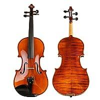 バイオリン ハードケースボウジンと初心者キッズ大人の学生のために設計専門のハンドメイドソリッドウッドヴァイオリン 気軽に演奏 (Color : Brown, Size : 1/4)