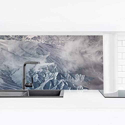 Bilderwelten Revestimiento Pared Cocina Autoadhesivo - Mountains of Tibet Premium 70 x 245cm