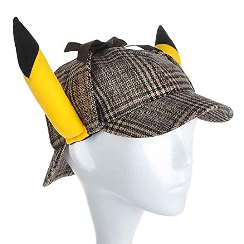 CosplayStudio Pikachu Sherlock Holmes - Gorro con orejas