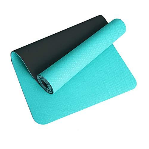 HUANGDANSEN Colchoneta de Yoga Colchoneta de Ejercicio para Fitness Gym Home Almohadilla insípida | Colchonetas de Yoga