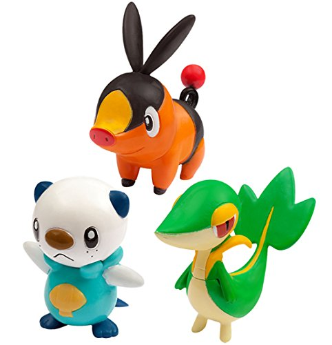 Pokemon Monster Collection EX 20th Anniversary 3 Pokemon of the Journey Vol.5 Unova (Isshu) Region Snivy (Serpifeu), Tepig (Floink), Oshawott (Ottaro)