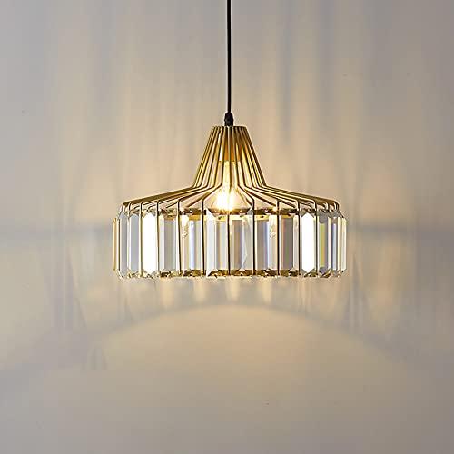 Lámpara Colgante de Cristal E27 Lámpara de Techo Moderna Vintage Altura Ajustable...