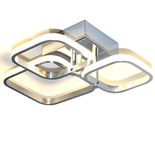 LED plafonnier lampe applique murale lustre salon chambre coucher éclairage moderne blanc chaud 32W rectangulaire 28 x 40 cm Lewima Magnus