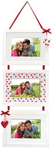 Zep W2133 Pamela Love Multi-Bilderrahmen für 3 Bilder à 10x15cm