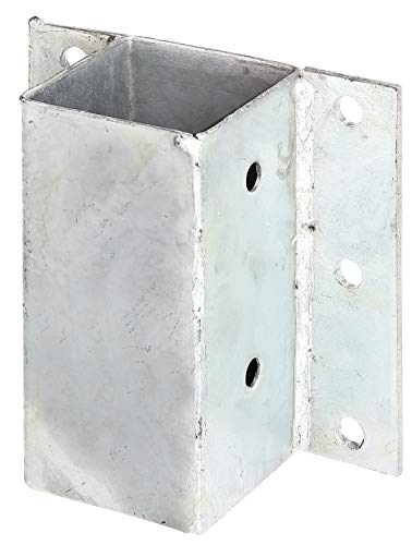 GAH-Alberts 208721 Pfostenträger für L- und U-Steine o. Mauern | zum Anschrauben | feuerverzinkt | 71 x 71 mm