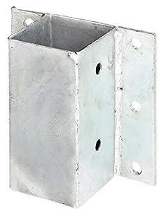 GAH-Alberts - Soporte de postes (para perfiles en L o U o muros, galvanizado al fuego, para atornillar)