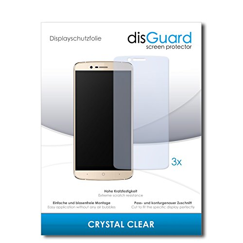 disGuard® Bildschirmschutzfolie [Crystal Clear] kompatibel mit Elephone P8000 4G [3 Stück] Kristallklar, Transparent, Unsichtbar, Extrem Kratzfest, Anti-Fingerabdruck - Panzerglas Folie, Schutzfolie