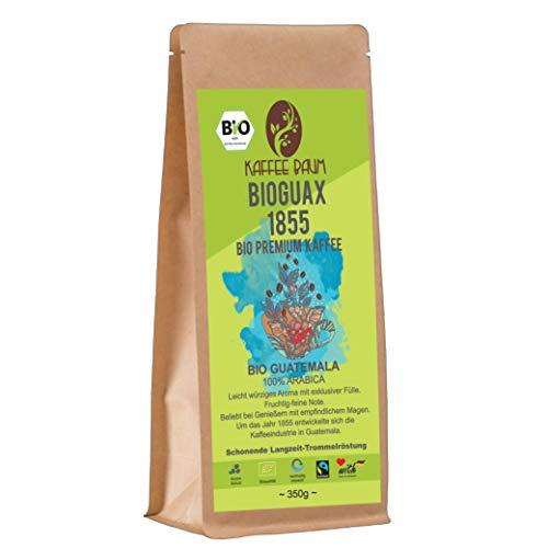 BIOGUAX 1855 von Kaffeebaum | BIO Premium Arabicakaffee | 100% Arabica | leichtwürziger Filterkaffee | Kaffeegenuss aus Guatemala | Kaffee gemahlen 150g | BIO-Qualität
