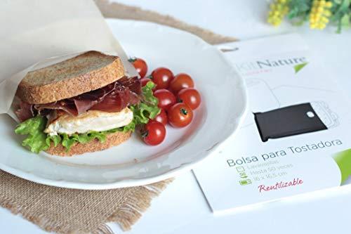 Kit Nature Bolsa para Tostadora | Tamaño Sandwich 16 x 16,5 cm | Pack de 1 Bolsa Reutilizable