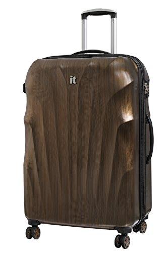 it luggage Momentum 8 Wheel Hard Shell Single Expander Suitcase Large with TSA lock Valigia, 80 cm, 144 liters, Oro (Gold/Black Brushed)