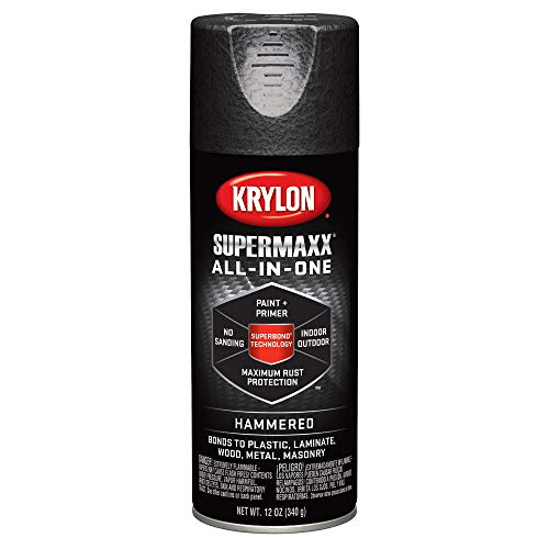 Krylon K08974007 SUPERMAXX Spray Paint, Satin Black