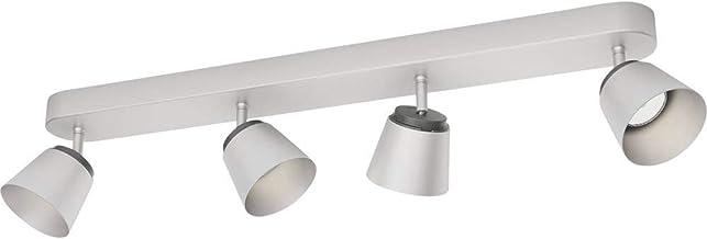 Philips Plafonnier 4 têtes chrome Dender Luminaire d'interieur