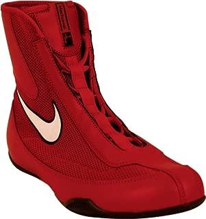 333580-611 Men MID Boxing Shoe Varsity RED White
