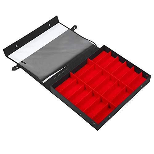 Durble and Robust Elegant 18 Grid Sonnenbrillen Aufbewahrungsbox für Brillen Display