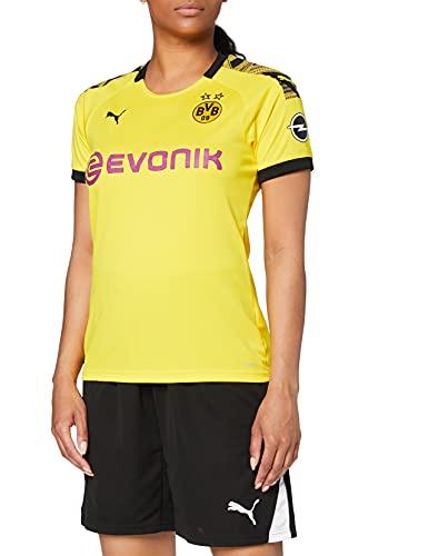 PUMA Damen Trikot BVB Home Replica mit Evonik Logo mit OPEL Logo, Cyber Yellow/Puma Black, XL, 755739