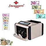 swaggers Latest Note Counting Machine with Fake Note Detection/Currency Counting Machine/Money Counting Machine with UV MG IR Detection - Heavy Duty for Professional & Bank USE