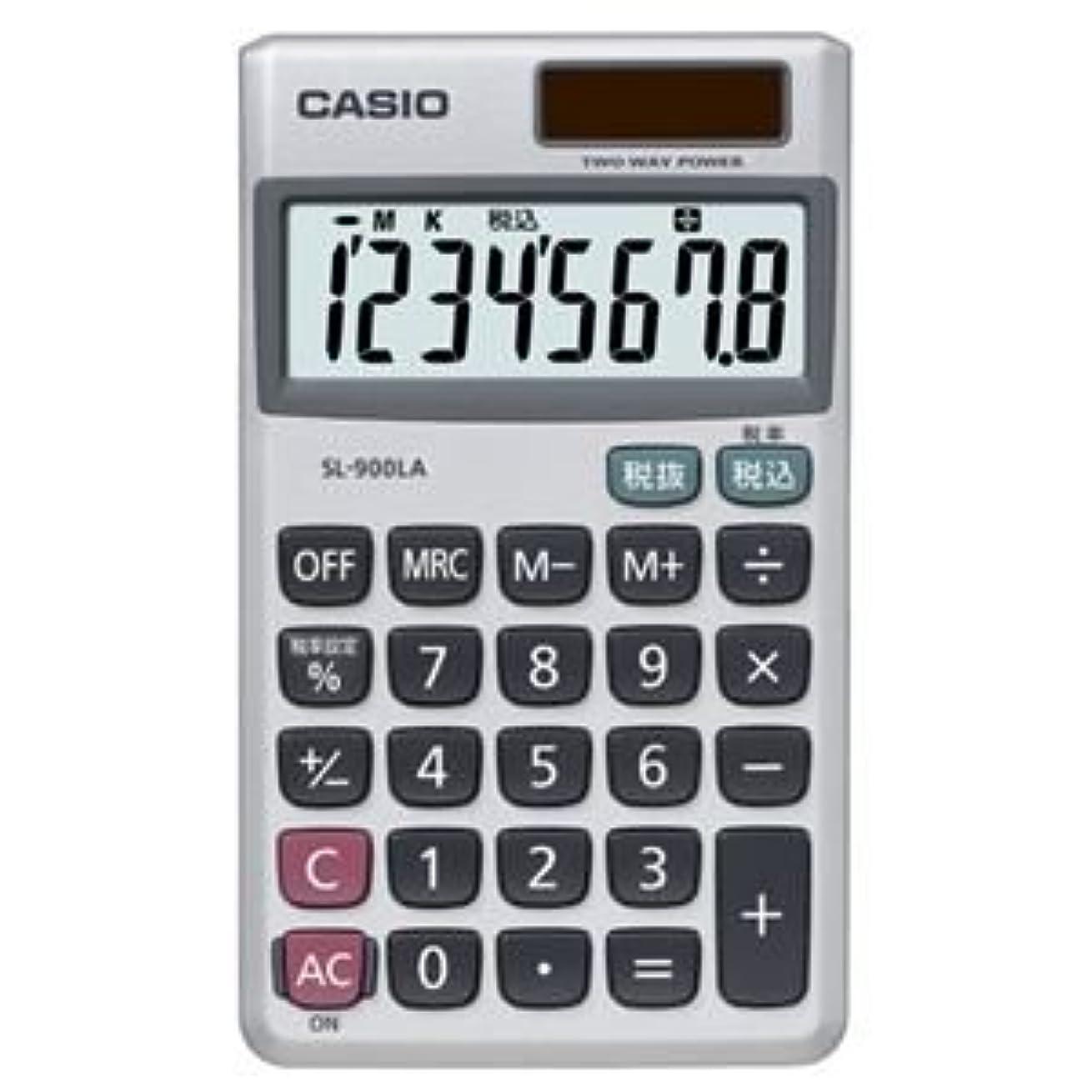 削減半導体メンダシティ(まとめ) カシオ CASIO 電卓 8桁 手帳サイズ SL-900LA-N 1台 【×5セット】