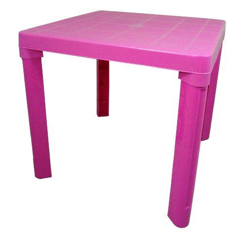 Plastic Pink Kids Children Table Home Garden Picnic