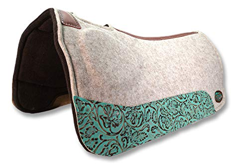 Southwestern Equine OrthoRide Elite Premium Tan Topper and Chocolate Wool Bottom 1' Saddle Pad (31 x...