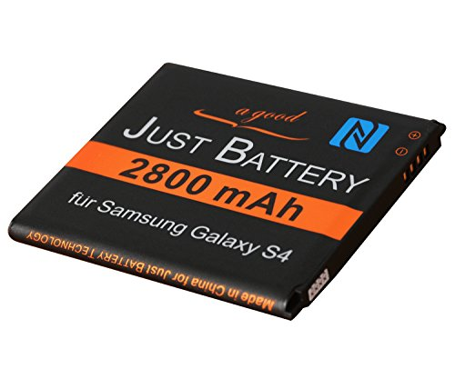JuBaTec original Akku für Samsung Galaxy S4 LTE+ GT-i9506 mit NFC und 2800 mAh ersetzt EB-B600BE