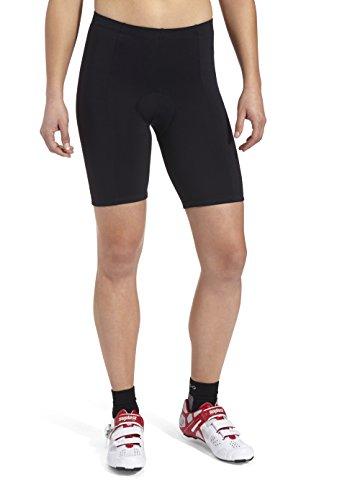 GONSO Mona V2 Fietsbroek van 90% polyamide en 10% EL, voor dames, gevoerde fietsbroek/bermuda/shorts met elastiek, vormvast, binnenzak