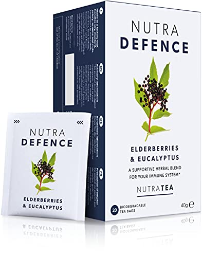 NUTRADEFENCE - Cold and Flu Tea   Cough Tea   Immune Tea - Providing Immune Support - Includes Eucalyptus, Elderberry and Mullein - 120 Enveloped Tea Bags - by Nutra Tea - Herbal Tea - (6 Pack)