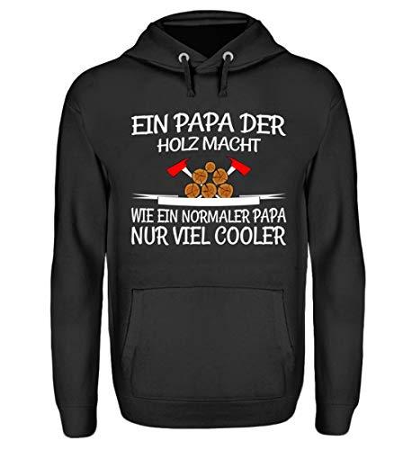 EIN Papa der Holz Macht - Sudadera con capucha unisex Negro Jet XXXXL