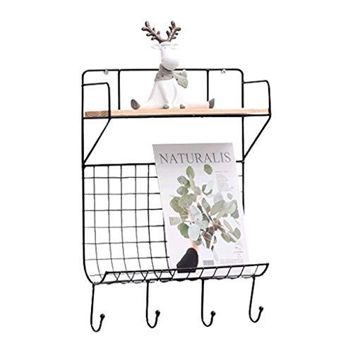 Vitrinekasten creatief rek woonkamer wandbehang opslagrek retro decoratie frame slaapkamer smeedijzer boekenkast garderobekasten