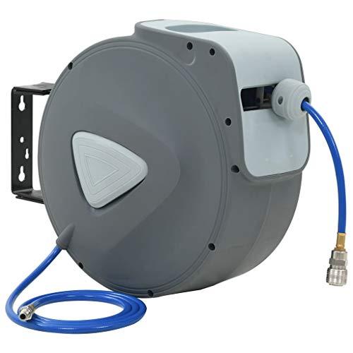 """vidaXL Druckluftschlauch Aufroller Automatik Pneumatikschlauch Trommel Schlauchtrommel Schlauchaufroller Luftschlauchaufroller 1/4"""" 30 m"""