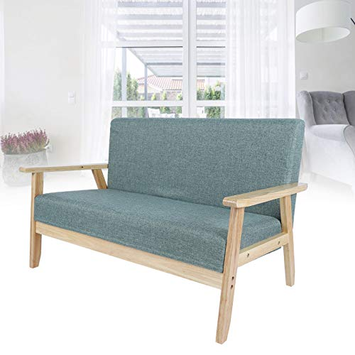 AYNEFY Polstersofa,Sofa Schlafsofa Holz Stoff 2-Sitzer Sofa Sessel Couch Lounge für Schlafzimmer Wohnzimmer Büro Garten Hof