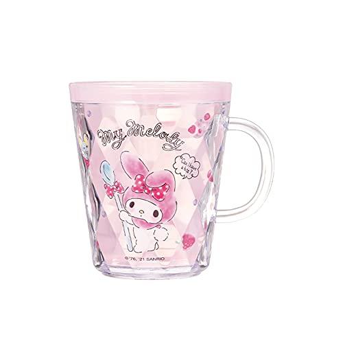 Achnr Kuromi My Melody Cinnamoroll Pom Pom Purin Taza de agua doble enjuague bucal, taza de lavado (color: rosa)