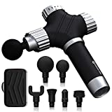 PERFORMANCE GURU Electric Massage Gun Professional Handheld Percussion Massager for Full Body Muscle Recovery and Quiet 35-50dB(A2-Black)