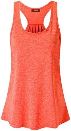 Felisou Yoga Tops for Women Ladies Sleeveless O Neck Loose Cami Tank Slouchy Roomy Stylish Plain product image