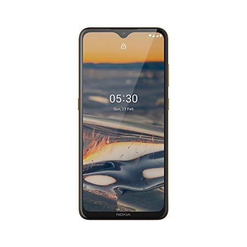 Nokia 5.3 6.55-Inch Android UK SIM Free Smartphone with 4 GB RAM and 64 GB Storage (Dual Sim) - Sand>