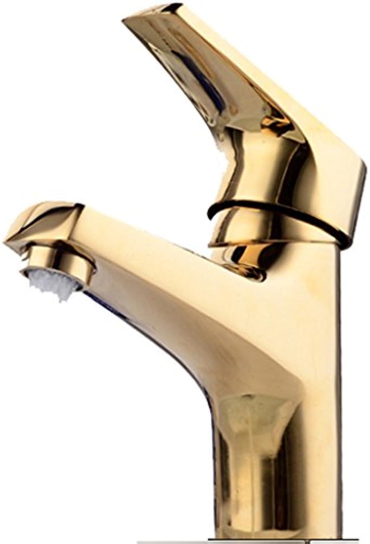 Wasserhahn Becken Gold Kupfer Einlochmontage Heie Und Kalte Regulierung Waschbecken ffnung 32mm Bis 40mm Kann Installiert Werden Liuyu.