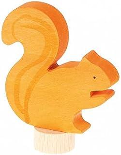 Toyvian Peluche Scoiattolo Desktop Ornament Cartoon Stuffed Scoiattolo Doll per Bambini Bambini Toddlers Khaki
