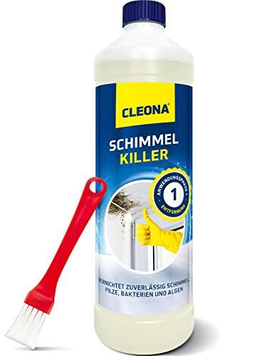 Schimmelentferner gegen Schimmel für Wand, Bad, Tapete Holz, Fugen - 500ml mit Pinsel