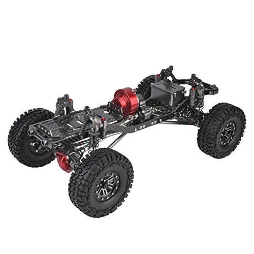 Romantisch cadeauRC Carrosserie RC, Op afstand bestuurbare auto, snelle racewagen, CNC-metalen en koolstofvezel carrosserieframe met bumpers voor 1/10 RC Crawler-autos