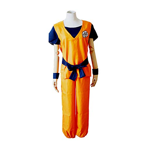 PAOFU-Anime Dragon Ball Z Goku Cosplay Kostuum Halloween Film Carnaval Mooie Jurk Anime Fan Volwassen Uniform Set,B,XXL