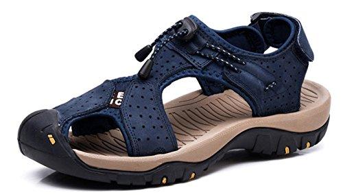 Sandales de Marche Homme Cuir Chaussure Plage Bout...