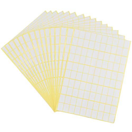 AvoDovA15 Hojas de Etiquetas Adhesivas, 1485PCS Etiquetas Adhesivas Pequeñas, 13x19mm, Etiquetas de Carpetas de Archivos Etiqueta de Precio Etiquetas de Código de Colores Etiqueta de Usos Varios